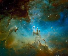 Otra increíble imagen de la Nebulosa del Águila y los Pilares de la Creación. Mi lugar favorito de la galaxia...