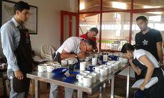 Primera ronda de catación del 3er Concurso 'Alta Calidad Dosquebradas Asocafé Manantial'