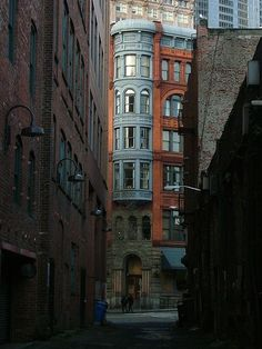 Pioneer Square, Seattle, Washington. Wonderful, eclectic shops and a haunted, underground tour.