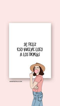 #pensamientospositivos #frasesmotivadoras #frasespositivas #viajera #cambiar #viajes #vida #cmo #tuCómo Cambiar tu Vida Inspirational Phrases, Motivational Phrases, Positive Phrases, Positive Quotes, Words Quotes, Life Quotes, Cute Spanish Quotes, Affirmations, Quotes En Espanol