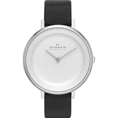 Skagen Ditte Watch Women's (£95) ❤ liked on Polyvore featuring jewelry, watches, black, fashion accessories, dial watches, skagen, skagen watches, analog watches and skagen jewelry