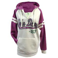 John Deere Varsity Ladies Raglan Hood Sweatshirt