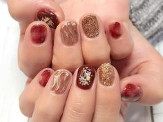 Kiss Nails, Fun Nails, Japan Nail, Red Design, Simple Nails, Short Nails, Nail Inspo, Christmas Nails, Nails Inspiration