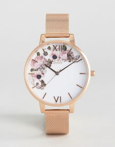 Olivia Burton | Olivia Burton Winter Garden Rose Gold Mesh Watch