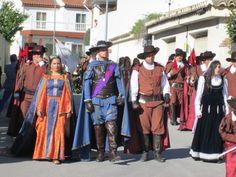 Algunos de los actores del Drama de Moros y Cristianos de Zújar 2014