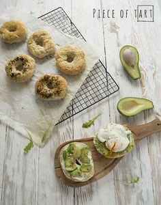 #bagle with #avocado & #creamcheese & #poached #egg