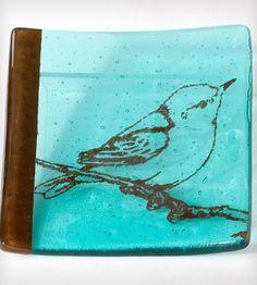 Glass Bird Catch-All Dish by Kiku Handmade on Scoutmob Shoppe