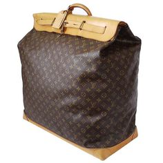 Louis Vuitton Monogram Giant Steamer Bag 55 Travel Bag   From a collection of rare vintage luggage and travel bags at https://www.1stdibs.com/fashion/handbags-purses-bags/luggage-travel-bags/