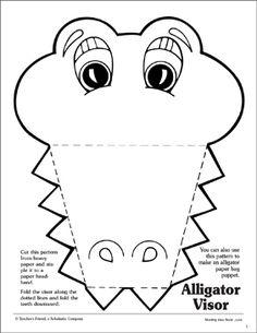Alligator: Visor Pattern by Scholastic Alligator Costume, Alligator Crafts, Alligator Party, Abc Crafts, Animal Crafts, Preschool Activities, Crafts For Kids, Alphabet Crafts, Crocodile Craft