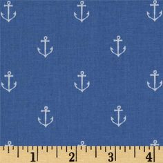 Michael Miller Out To Sea Anchors Away Boy BlueItem Number: FV-372 Our Price: $8.98 per Yard Compare At: $10.99 per Yard