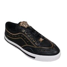 $118.00 Versace Leather Low Top Sneakers