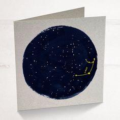 Virgo Horoscope Astrology Birthday Card, Star sign zodiac with a minimalist astrology constellation design