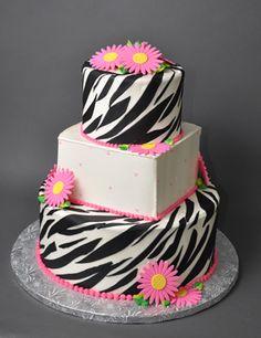 Bethel Bakery Wedding Cake - Zebra Stripe