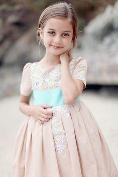 a beautiful little flower girl