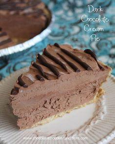 Dark Chocolate Cream Pie Recipe on Yummly. @yummly #recipe