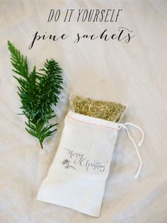 SMP At Home: DIY Pine Sachets  Read more - http://www.stylemepretty.com/living/2012/12/16/smp-at-home-diy-pine-sachets/