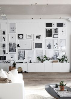 Black and white gallery wall...love.