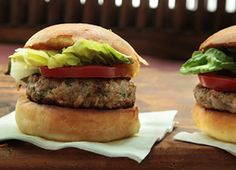 Grated apples and chopped rosemary give these pork burgers a seasonal lift.