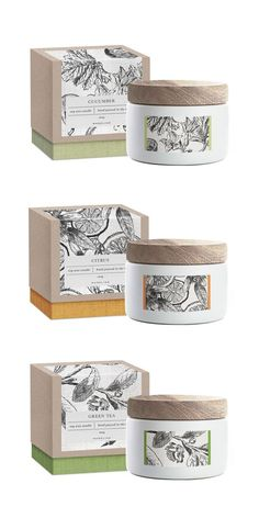 Packaging design inspiration Soy candle packaging concept More Online Gardening Catalogs At Your Dis Packaging Box, Skincare Packaging, Candle Packaging, Pretty Packaging, Brand Packaging, Design Packaging, Cosmetic Packaging, Candle Branding, Tee Design