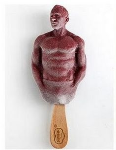 """Alright maybe its not """"yum"""" so much as """"this is hilarious"""".. in 2009 you could buy Daniel Craig (James Bond) shaped Del Monte Pomegranate Superfruit popsicles in the UK! Alright, maybe for some it's a """"yum"""" :)"""