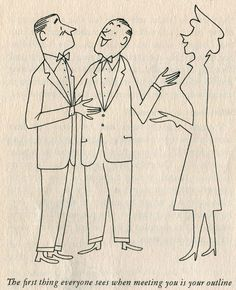From the Family Circle Reducing Diet Cookbook 1952. Illus by Roy Doty.