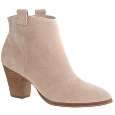 Jcrew ankle boots Jcrew Eaton nude suede ankle boots. Shoes have been worn so see photo of bottoms. Also as pictured one heel has a small gash. Runs large I'm normally a size 7. No Trades J. Crew Shoes Ankle Boots & Booties