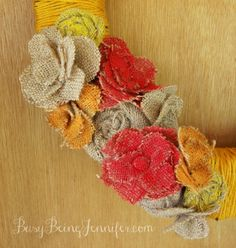 Painted Burlap Wreath and TWENTY more of The Best DIY Fall Decorations for you to try.