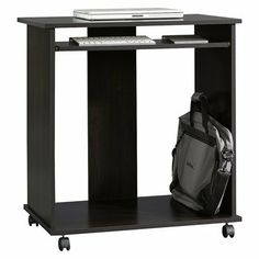 Make It Easy To Take Your Work With You With This Computer Cart. The Black