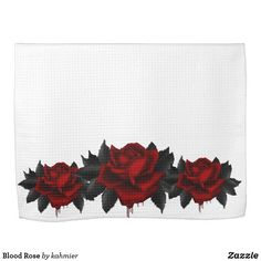 Blood Rose Hand Towel