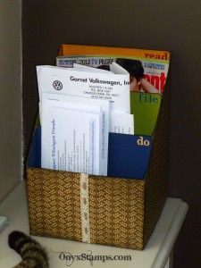 Cereal Box Mail Organizer