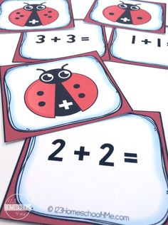Kids will go buggy over this cute, FREE Ladybug Addition Math Game. There are two ways to play this fun math game. Doubles Addition, Math Doubles, Math Addition Games, Math Board Games, Fun Math Games, Dice Games, Eyfs Activities, First Grade Activities, Therapy Activities