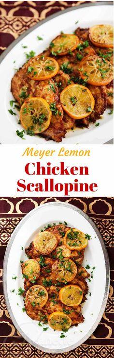 Gluten-Free Chicken Scallopine with Meyer Lemon Sauce - an elegant and delicious dinner idea - you can substitute regular lemons for Meyer lemons ~ http://jeanetteshealthyliving.com