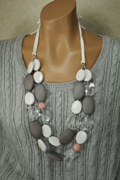 Long Chunky Statement Necklace