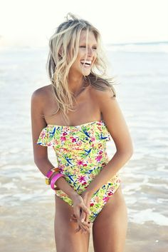 Floral one piece to hide my muffin top hahaha