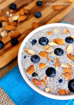 Blueberry Almond Chia Pudding - Delightful E Made