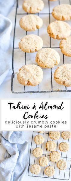 Tahini & Almond Cookies   Tahini Cookies   eatlittlebird.com