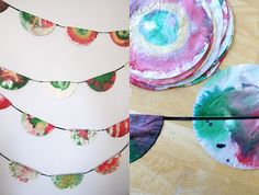 11 Christmas Craft Ideas for Kids - coffee filter garlands