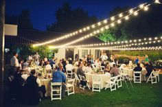 lighting for an outdoor wedding