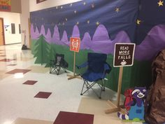 This is a hallway for literacy night.  It would also work outside of a classroom or along a section of the room.