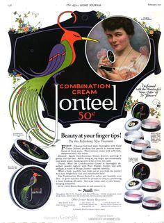 """Combination cream Jonteel.  """"Beauty at your fingertips!"""" In Ladies' Home Journal, 1921, Jan-Apr."""