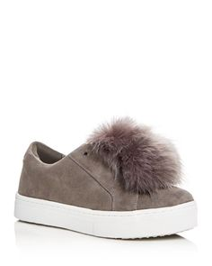 Fluffy tufts of faux fur complete this statement sneaker by Sam Edelman, set atop '90s-inspired platforms. | Suede and faux fur upper, synthetic lining, synthetic sole | Imported | Fits true to size,