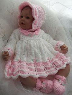 Knitting Pattern Baby Girls or Reborn von PreciousNewbornKnits, £4.63