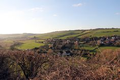 The Isle of Wight from Carisbrooke Castle