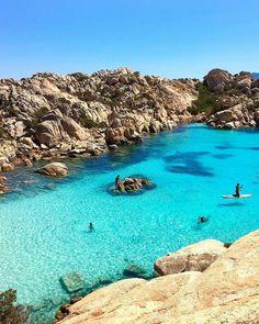 "1,371 Likes, 11 Comments - Bikinis.Travel.Fashion (@bikinisonshow) on Instagram: ""📸@aneta1404 in Cala Coticcio Beach Sardinia 💙"""