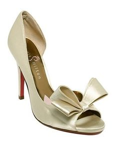 My mom wants me to get traditional wedding shoes.