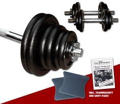 Curl-Hantel-Set 47 kg - Guss - inklusive Griff-Pads und Übungsanleitung  #hantelset #hantel #lcurlhantelsetl #workout #vorteilsangebot #sparangebot #hanteltraining #fitness #training #curlhantel