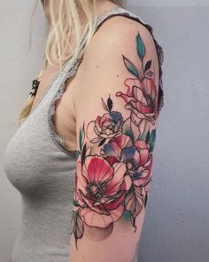Can You Tell If It Is Fabric Or The Skin? These Colorful Sleeve Tattoos Will Blow Your Mind. Stunning sleeve tattoos for both, men and women, that are perfect to complement your outfit. Colorful Sleeve Tattoos, Unique Half Sleeve Tattoos, Forearm Sleeve Tattoos, Tribal Sleeve Tattoos, Sleeve Tattoos For Women, Tattoo Sleeve Designs, Thigh Piece Tattoos, Rose Tattoo Forearm, Floral Tattoos
