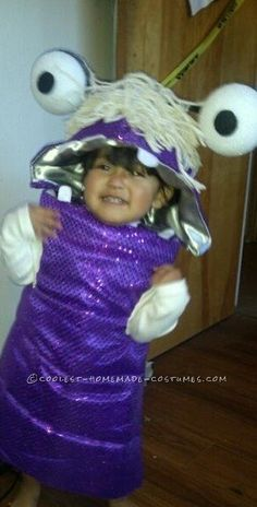 Sweet Little DIY Monsters Inc. Boo Costume for a Toddler... This website is the Pinterest of costumes