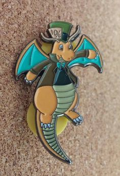 Dragonite in Wonderland Pokemon Hat Pin by CrossforceDesigns