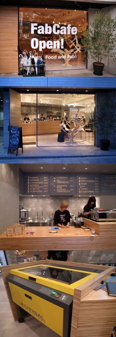 coffee + laser cutter = FabCafe  - laser cut while you sip coffee at this cafe in tokyo.